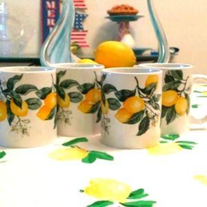 4 Trendy Tuscan Lemon Mugs